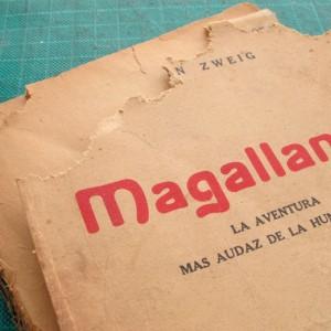restauración de un libro chileno